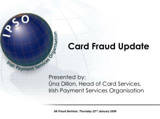 Card Fraud Update