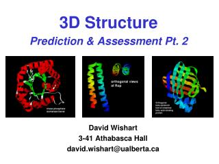 3D Structure Prediction & Assessment Pt. 2