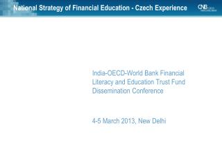 National Strategy of Financial Education - Czech Experience