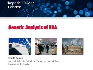 Genetic Analysis of DBA