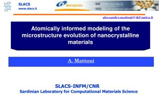 Atomically informed modeling of the microstructure evolution of nanocrystalline materials