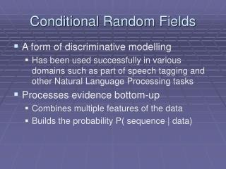 Conditional Random Fields