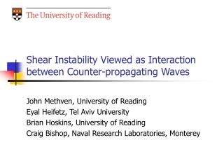 Shear Instability Viewed as Interaction between Counter-propagating Waves