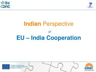 Indian Perspective of EU – India Cooperation