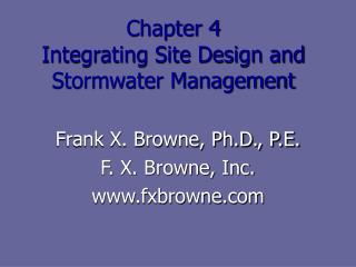 Chapter 4 Integrating Site Design and Stormwater Management