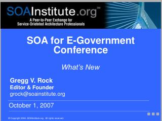 SOA for E-Government Conference
