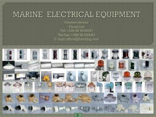 MARINE  ELECTRICAL EQUIPMENT