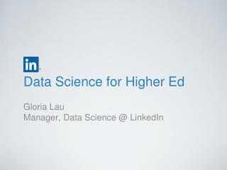 Data Science for Higher Ed