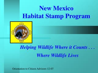 New Mexico  Habitat Stamp Program