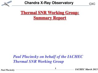 Thermal SNR Working Group: Summary Report