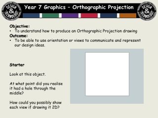 Orthographic Projection  2 Dimensional View of an object
