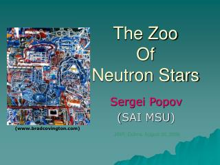 The Zoo  Of  Neutron Stars
