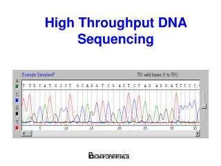 High Throughput DNA Sequencing