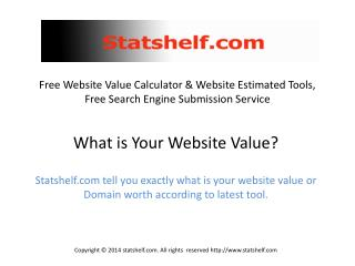 Free Website Value Calculator & Website Estimated Tools