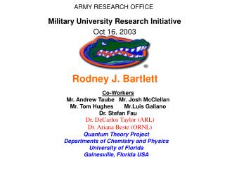 ARMY RESEARCH OFFICE Military University Research Initiative  Oct 16, 2003