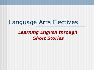Language Arts Electives