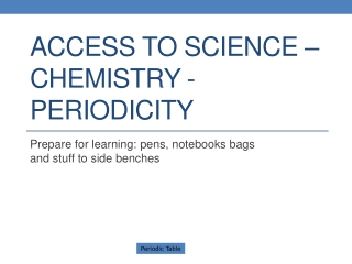 Access to Science: Chemistry