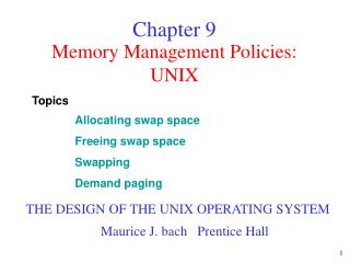 Memory Management Policies: UNIX