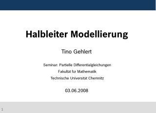 Halbleiter Modellierung