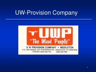 UW-Provision Company