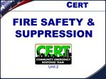FIRE SAFETY  SUPPRESSION