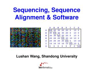 Sequencing, Sequence Alignment & Software