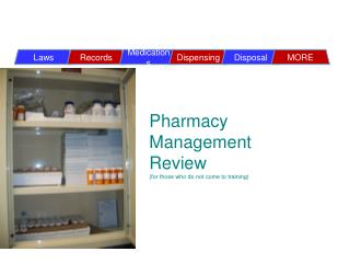 Pharmacy Management Review  (for those who do not come to training)