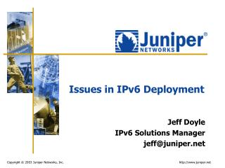 Issues in IPv6 Deployment