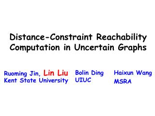 Distance-Constraint Reachability Computation in Uncertain Graphs