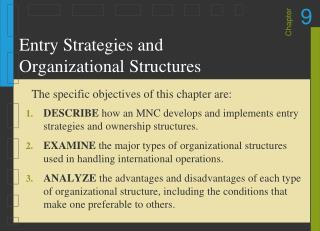Entry Strategies and Organizational Structures