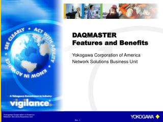 DAQMASTER Features and Benefits