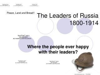 The Leaders of Russia  1800-1914