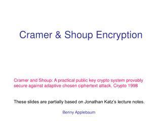 Cramer & Shoup Encryption
