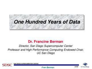 One Hundred Years of Data