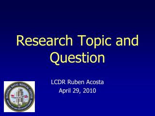 Research Topic and Question