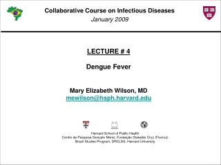 LECTURE # 4 Dengue Fever Mary Elizabeth Wilson, MD mewilson@hsph.harvard