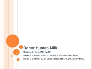 Donor Human Milk