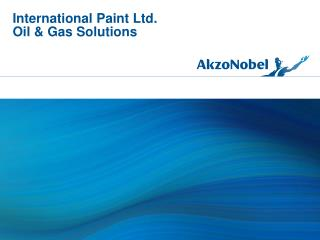International Paint Ltd. Oil & Gas Solutions