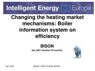 Changing the heating market mechanisms: Boiler information system on efficiency