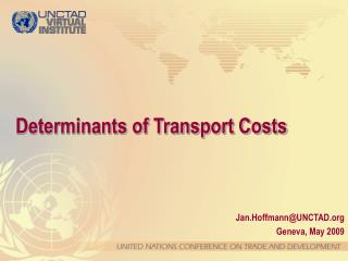 Determinants of Transport Costs
