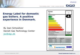 Energy Label for domestic gas boilers. A positive experience in Denmark.