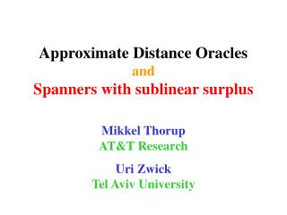 Approximate Distance Oracles and Spanners with sublinear surplus