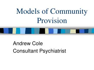Models of Community Provision