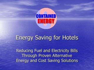 Energy Saving for Hotels