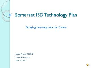 Somerset ISD Technology Plan