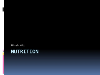 The Relationship between Nutrition and Kidney Function