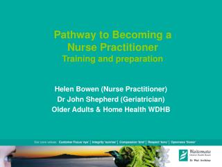 Pathway to Becoming a  Nurse Practitioner Training and preparation