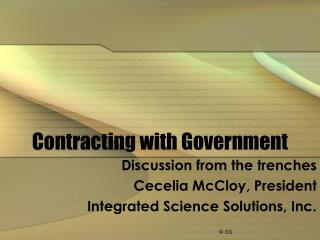 Contracting with Government