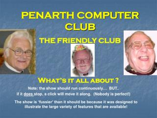 PENARTH COMPUTER CLUB
