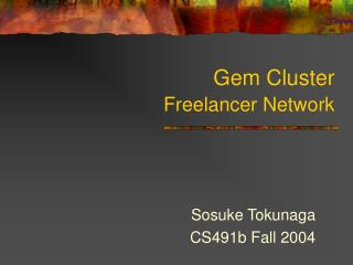 Gem Cluster  Freelancer Network